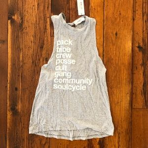 NWT Grey SoulCycle Tank Top